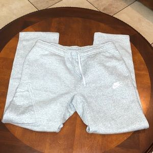 Nike Sweatpants with side button pocket Large